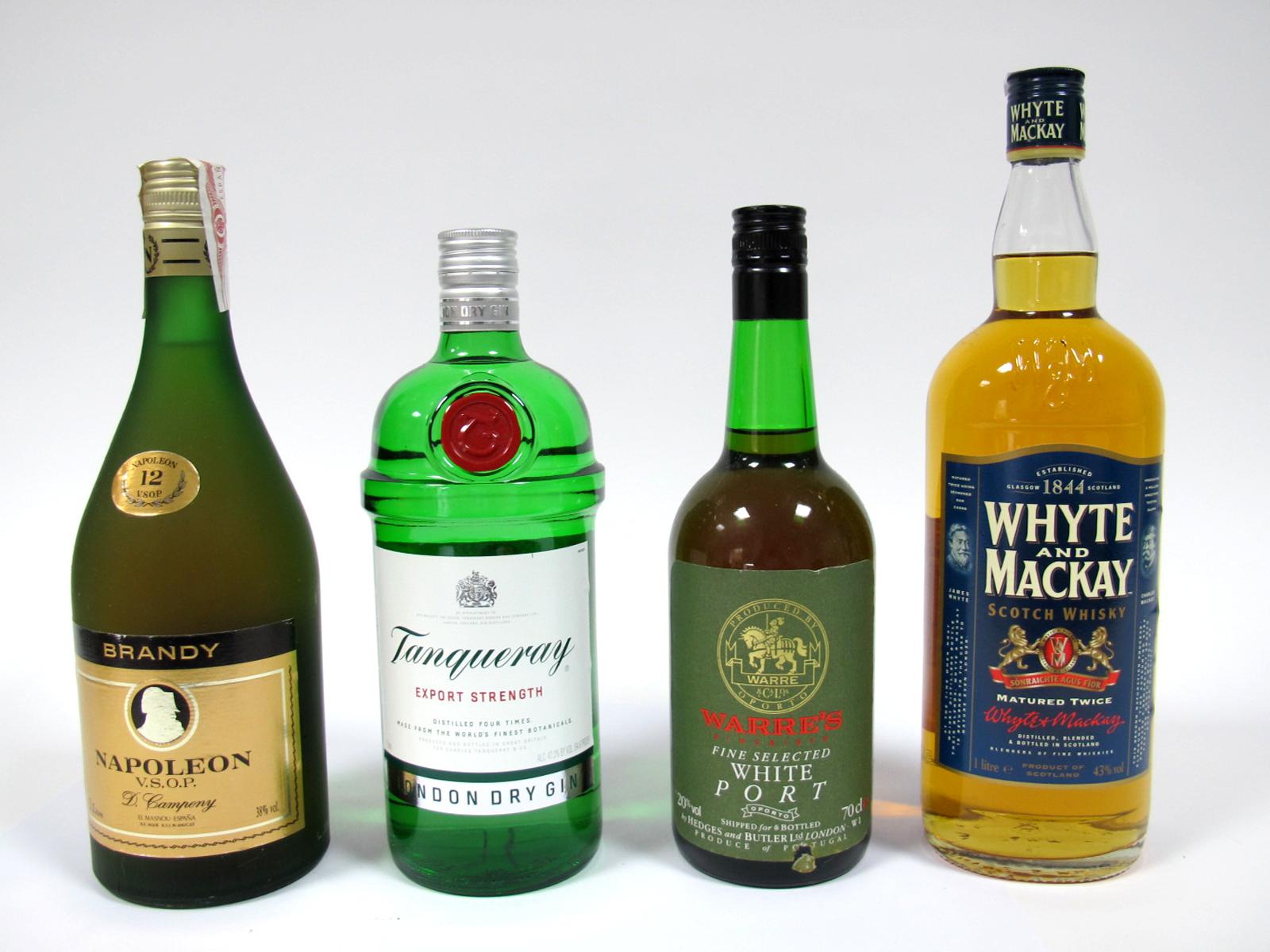 Lot 55 - Spirits - Napoleon V.S.O.P. Brandy, 1 litre, 38% Vol.; Warre's Fine Selected White Port, 70cl, 20%