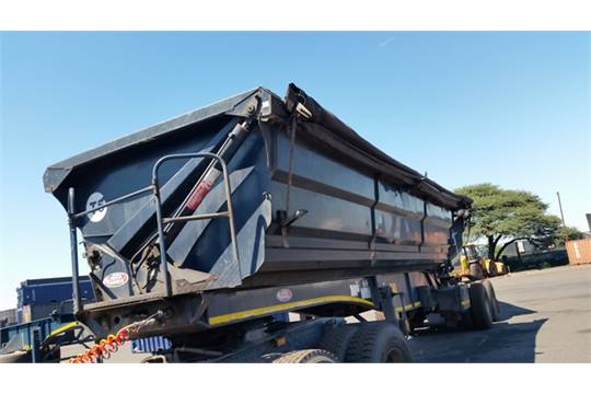 2011 Bk76gtgp Sa Truck Bodies Double Axle Side Tipper Trailer Leader 14 Day Paper Delay