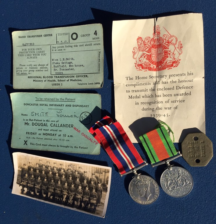 Rare WW2 WAAF RAF casualty medals, photo and dog tag, L . Smith ...