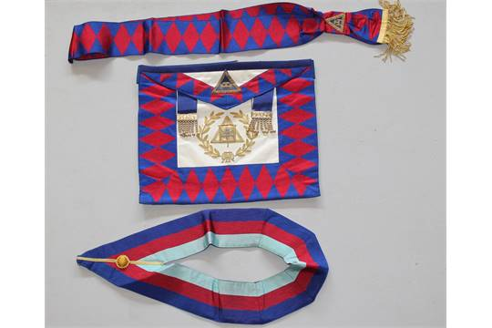 Masonic, a Royal Arch Supreme Grand Chapter Officer's apron, sash