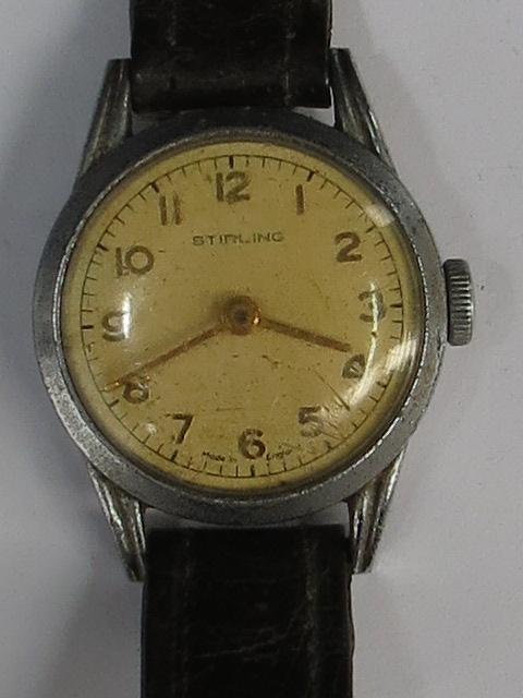 Lot 283 - A gentleman's Sterling wristwatch, paper