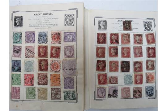 A trio of stamp albums 'Stanley Gibbons Improved Postage