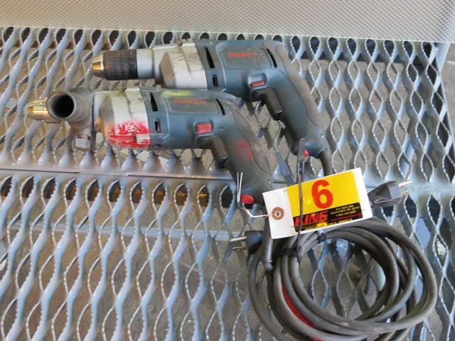 Lot 6 - Pair of Bosch Drills