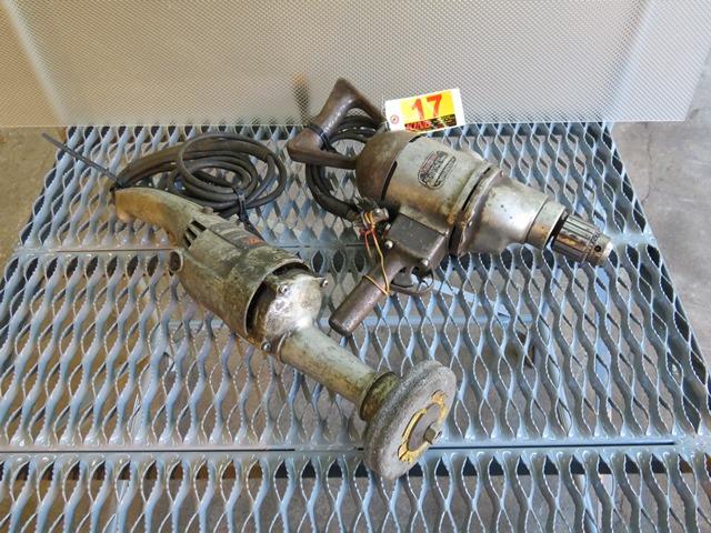 """Lot 17 - Milwaukee 1/2"""" HD Drill & Skil 5"""" Grinder"""
