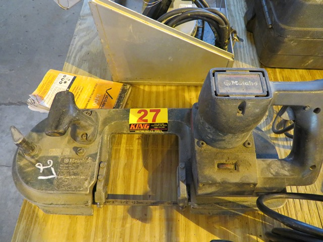 Lot 27 - Metabo Portable Band Saw