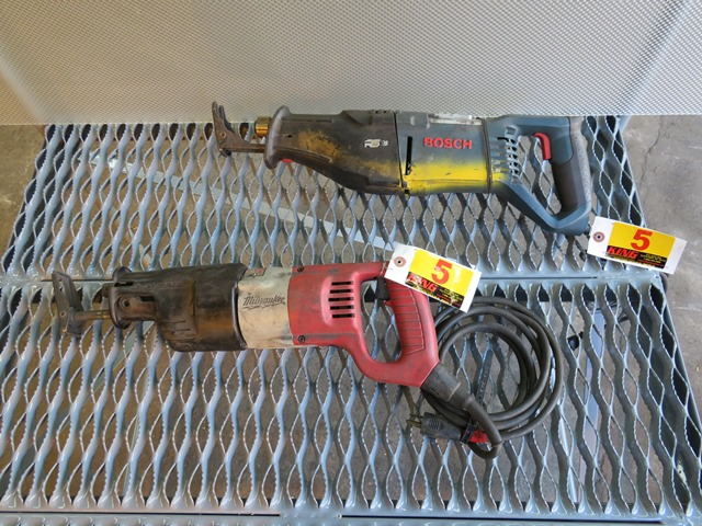 Lot 5 - Pair of Sawzalls (1) Bosch - (1) Milwaukee