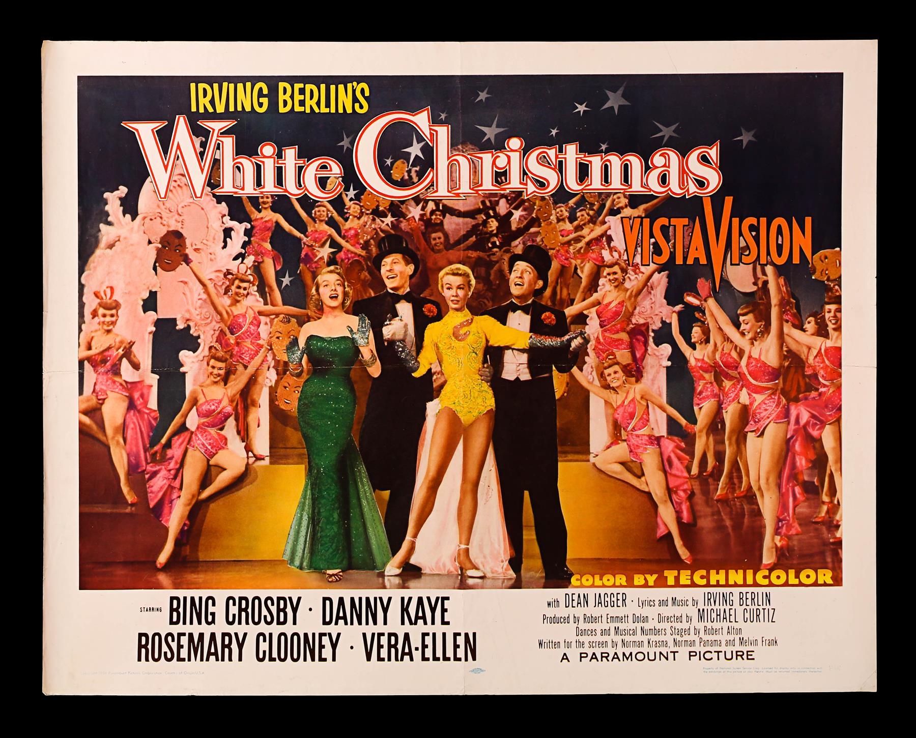 Lot 434 - WHITE CHRISTMAS (1954) - US Half-Sheet Style-B Poster