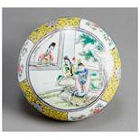A CANTON ENAMEL BOX AND COVER Canton enamel. China, Qing dynastyAn attractive canton enamel box