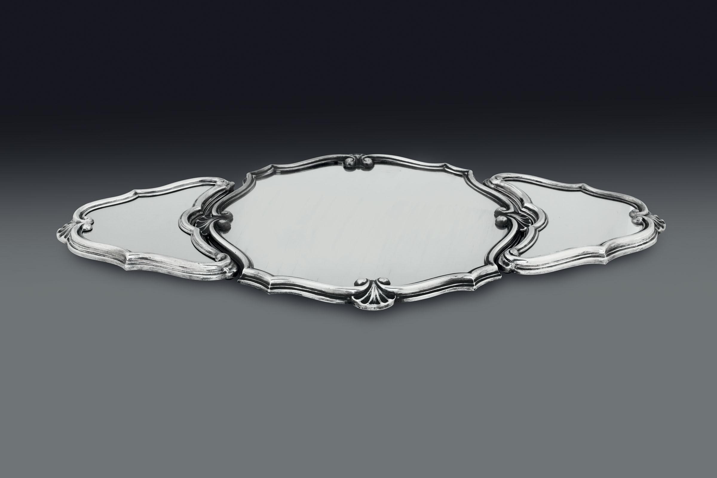 Lot 43 - Centrotavola in argento e specchi. Argenteria artistica italiana del XX secolo. [...]
