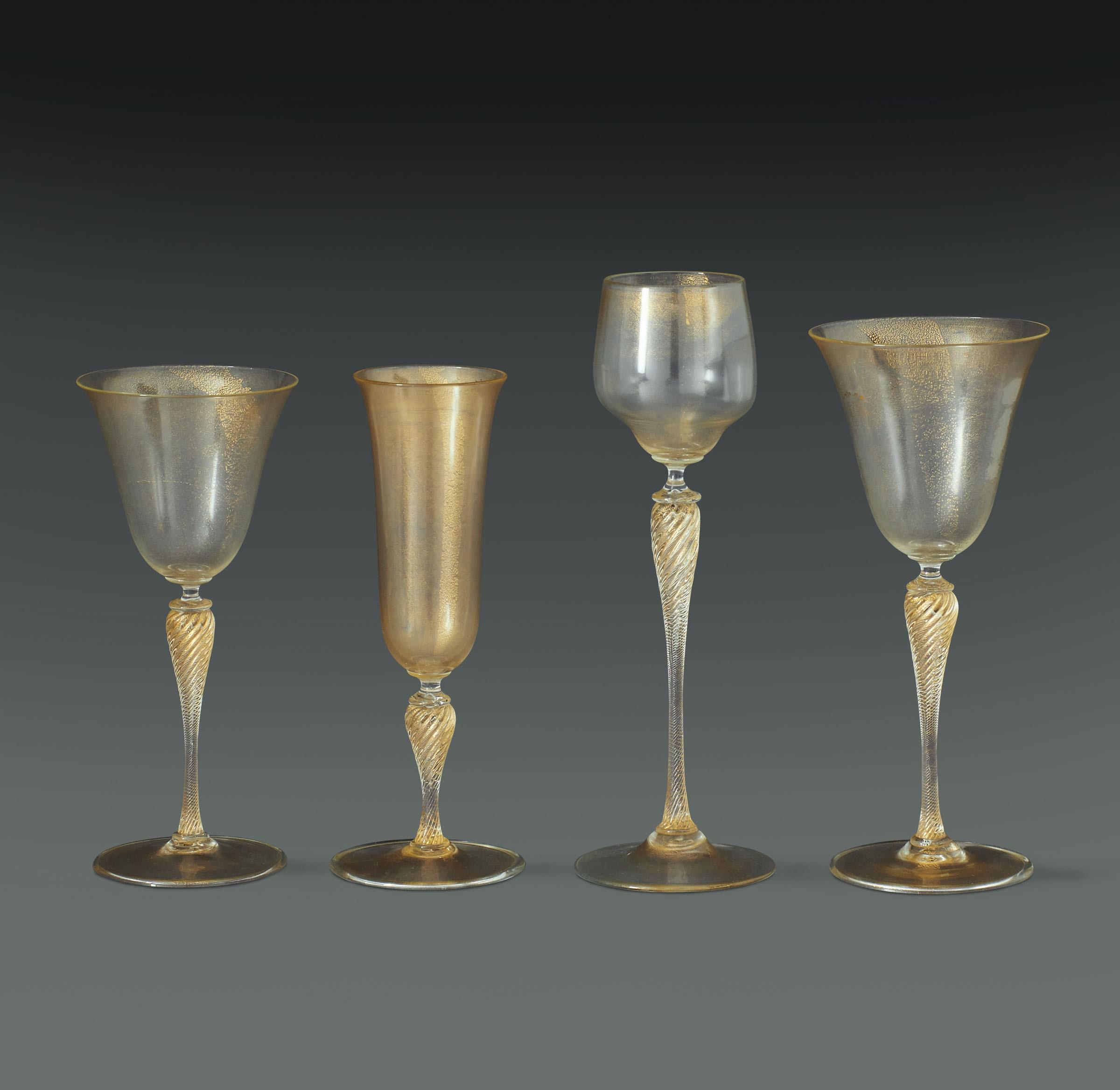 Parte di servizio di bicchieri già proprietà di S.A.R. la Principessa Maria [...]