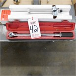 "LOT - KD 1/4"" DRIVE BEAM-TYPE TORQUE WRENCH AND KD 1/2"" DRIVE TORQUE WRENCH"