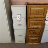 LOT - (2) FILE CABINETS, STEEL AND WOOD