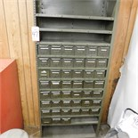 STEEL SHELF UNIT W/ 41 REMOVABLE PARTS BINS