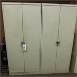 LOT - (2) DAYTON STORAGE CABINETS W/ KEYS