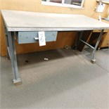 STEEL WORKBENCH, 6' X 3'
