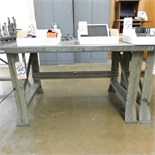STEEL WORKBENCH, 4' X 34""