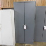 2-DOOR STEEL STORAGE CABINET W/ KEY, 3' X 2' X 78""