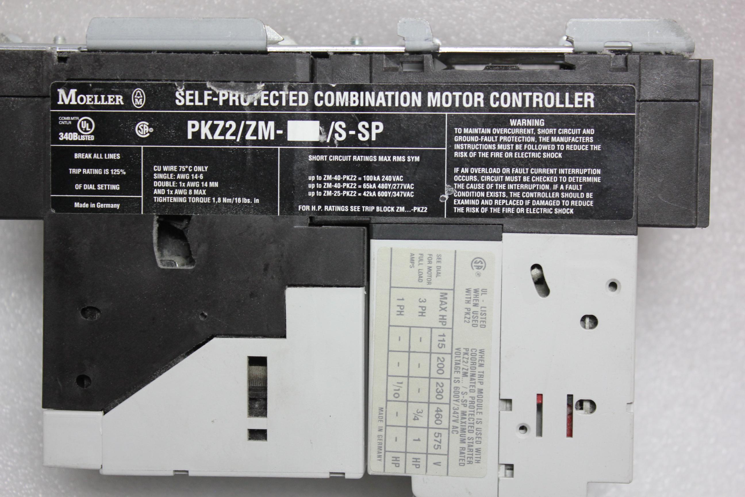 KLOCKNER MOELLER MOTOR PROTECTOR WITH REMOTE OPERATOR - Image 7 of 7