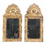 Pair of carved and gilded cornucopias. 18th century.