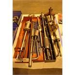 Lot of (3) Slide hammer Pin Puller Sets, (4) Gear Pullers, (1) Die Handle