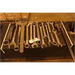 """11 pcs large box wrench. 1 3/8"""" to 2 1/2"""". 36"""" pipe wrench 4"""" cap"""