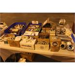 Lot of Fuses, Fittings, Sealing Rings, Bushings, Conduit Clamps, Cable Straps, Wire Ties