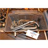 """Tool box w/ Large Allen wrenches 5/16-1"""" (approx. 20 pcs)"""
