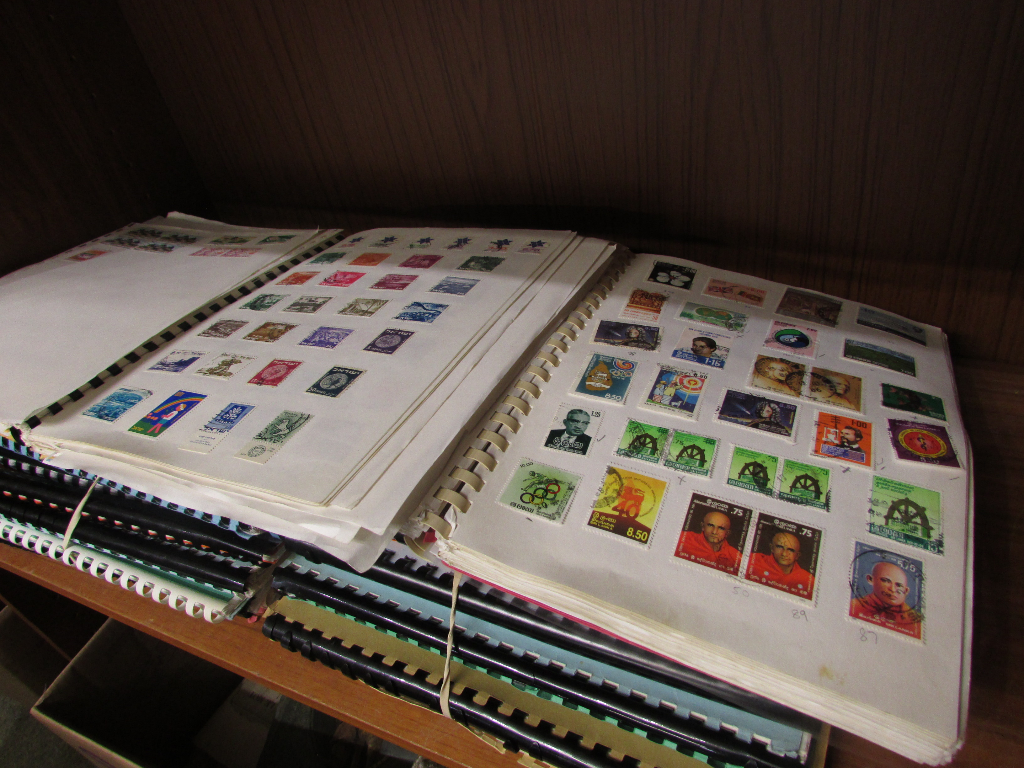 Lot 204 - Twenty-two spiral-bound albums of modern worldwide stamps including South African, Indian,