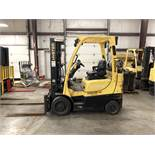 2013 HYSTER 5,000-LB., MODEL: S50FT, S/N: F187V24317L, LPG, LEVER SHIFT TRANSMISSION, SOLID TIRES,