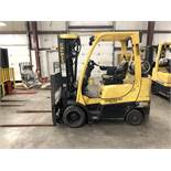 2014 HYSTER 6,000-LB., MODEL: S60FT, S/N: G187V02311M, LPG, LEVER SHIFT TRANSMISSION, SOLID TIRES,