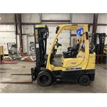 2013 HYSTER 6,000-LB., MODEL: S60FT, S/N: F187V24353L, LPG, LEVER SHIFT TRANSMISSION, SOLID TIRES,