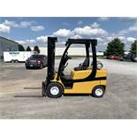 2013 YALE 5,000-LB FORKLIFT, MODEL: GLP050VX, NEW PNEUMATIC TIRES, 4,326 HRS, RUNS BUT ENGINE SMOKES