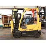 2014 HYSTER 5,000-LB., MODEL: S50FT, S/N: G187V02819M, LPG, LEVER SHIFT TRANSMISSION, SOLID TIRES,