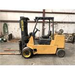 """HYSTER 12,000-LB. CAP FORKLIFT, MODEL: S120XL2S, LPG, SOLID TIRE, 3-STAGE, 162"""" LIFT, 9,539 HOURS"""