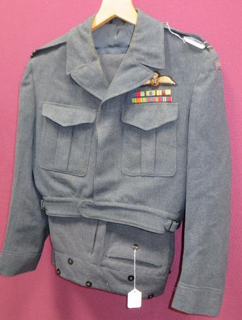 Korean War/WW2 RCAF Pilot's Battle Dress Uniform Consisting 1947