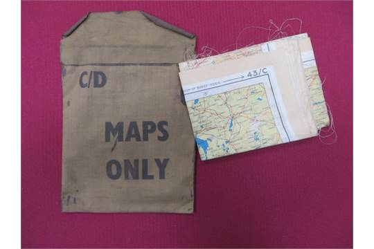 ww2 france amp germany silk escape map in case coloured silk