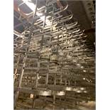 (49) Stainless Steel Rail Trees, Rounded End Main Tiers, (5) Branch Tiers Between, Double Stainless