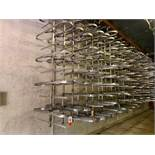 (60) Stainless Steel Rail Trees, Rounded End Main Tiers, (5) Branch Tiers Between