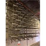 (65) Stainless Steel Rail Trees, Square End Main Tiers, (5) Branch Ttiers Between