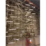 (65) Stainless Steel Rail Trees, Square End Main Tiers, (5) Branch Tiers Between