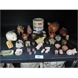 A selection of pig and piglet figures