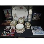 A selection of ceramics including Wedgwood Clio and decorated tiles