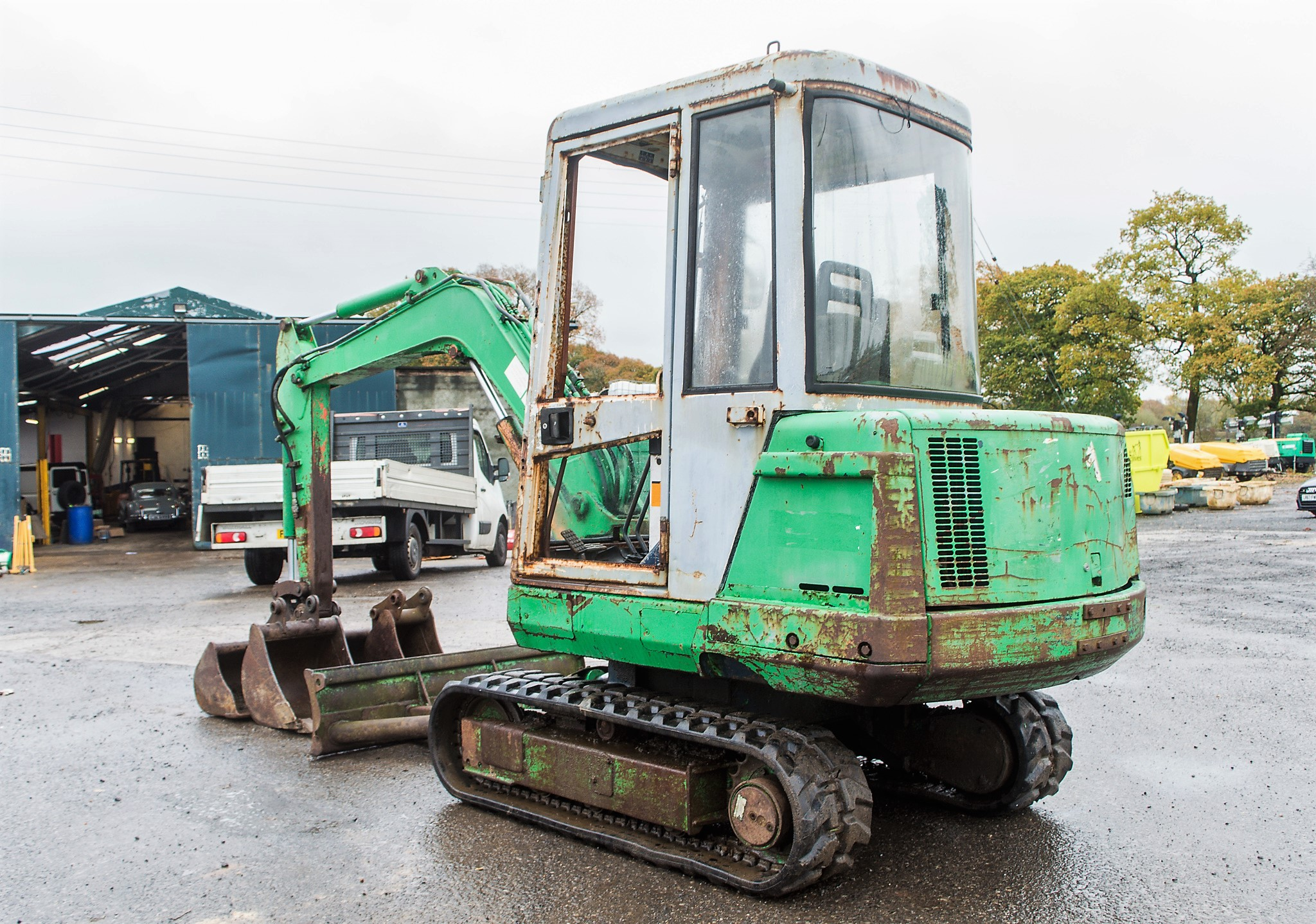 Lot 14 - Kubota KX71 2.8 tonne rubber tracked mini excavator S/N: 56354 Recorded Hours: 2611 blade, piped & 3