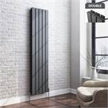 5 BRAND NEW BOXED 1800x480mm Anthracite Double Flat Panel Vertical Radiator.RRP £499.99.Made with