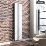 6 BRAND NEW BOXED 1800x452mm Gloss White Double Flat Panel Vertical Radiator. RRP £499.99.We love