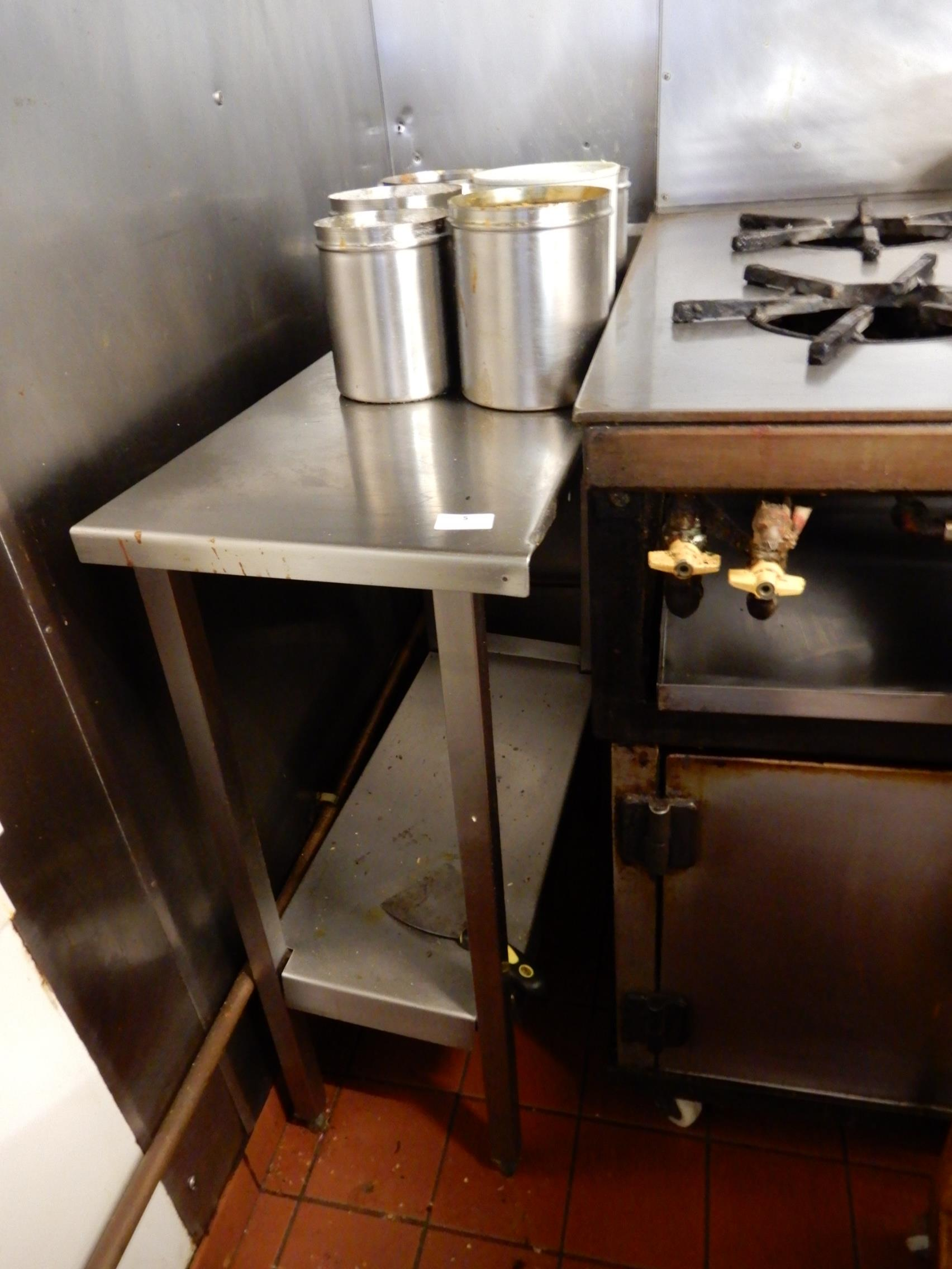 Lot 5 - *Stainless Steel Infill Unit with Under Shelf and Upstand to Rear 34x70cm