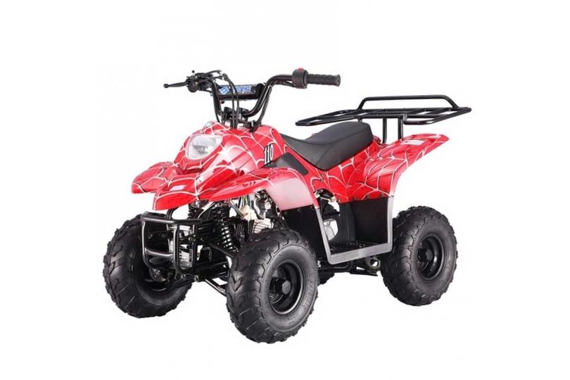 Lot 18039 - V Brand New 110cc Boulder Petrol Quad Bike - Rear Frame - Electric Start - 4 Stroke Automatic -