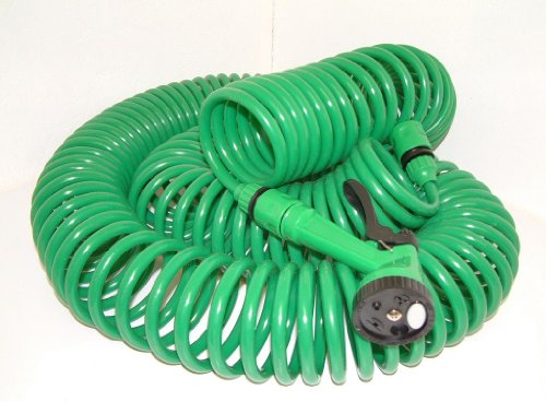 Lot 18025 - V Brand New 30 Metre Coil Hose With Nozzle And Tap Connectors Etc