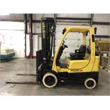 2013 HYSTER 5,000-lb., Mod: S50FT, LPG, Solid Tires, 4-Stage Mast, Sideshift, 3,820 Hours