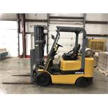CATERPILLAR 5,000-LB., MODEL: GC25K, 3,763 HOURS, LPG, LEVER SHIFT TRANSMISSION, SOLID TIRES